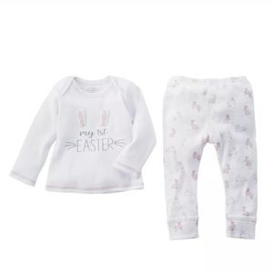 Mud Pie My First Easter Two-Piece Set Girl 0-3 M